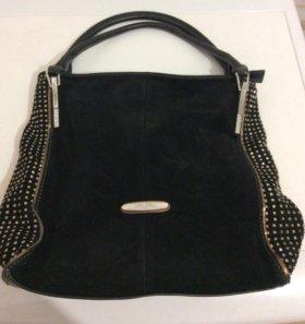 Красивая замшевая сумка
