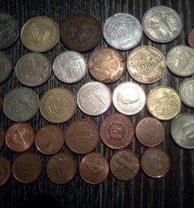 Монеты, 33 шт. Оригинал.