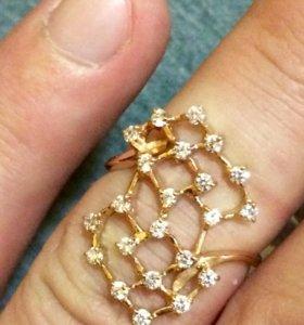 Кольцо 585 золото фианит