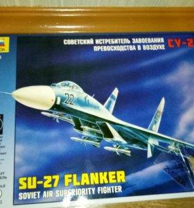 Советский истребитель СУ-27 ФЛАНКЕР
