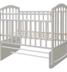 Кроватка-маятник Алита 3 белая