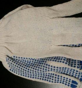 Перчатки рабочие. Новые!