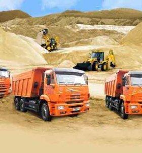 Доставка:песка, щебня, земли и Услуги спецтехники!