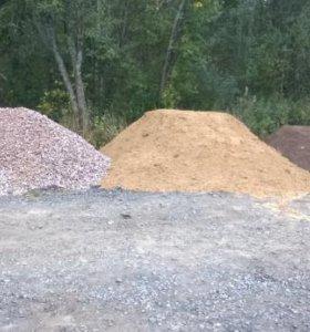 Песок, земля, щебень и Услуги СПЕЦТЕХНИКИ!