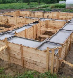 Фундаменты , бетонные работы