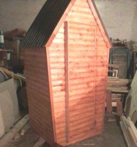Туалет домик материал блок хаус