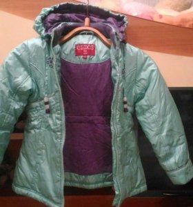 Куртка на девочку весна-осень ,даже на теплую зиму