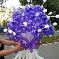 Букетик из шариков