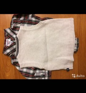 Боди-рубашка и жилет