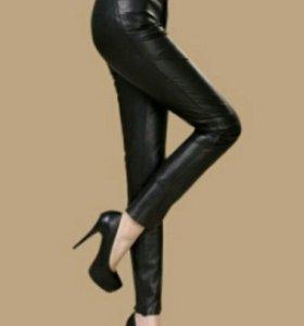 Брюки женские кожаные