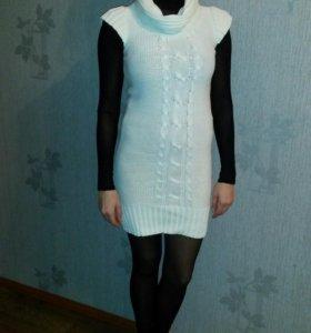 Вязаное платье.42-44р