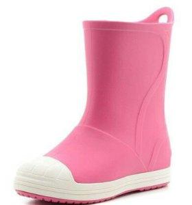 Новые розовые crocs сапоги с 10