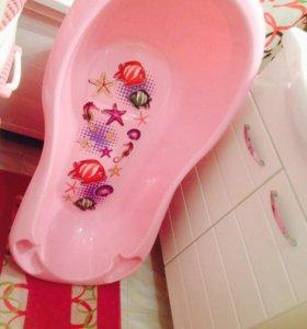 Продаю детскую ванночку с горкой для купания