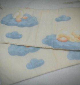 Бортики с уточками для детской кроватки