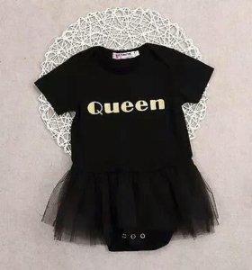 Боди для маленькой принцессы. Новое.