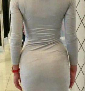 Новое платье под замшу