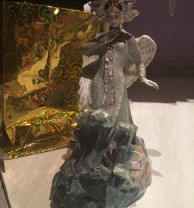 """Фарфоровая статуэтка """"Царевна лебедь с коршуном """""""