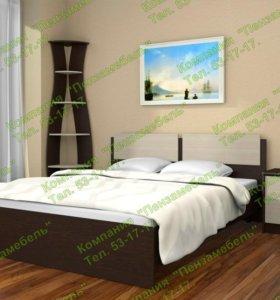"""Кровать двухспальная """"Марк"""" с матрасом"""