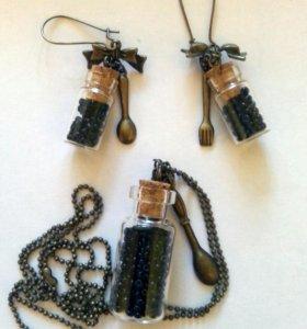 Комплект украшений баночки-бутылочки