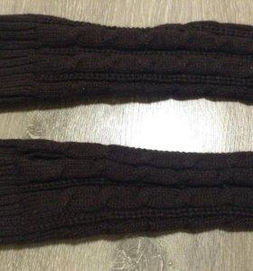 Вязаные перчатки-рукава