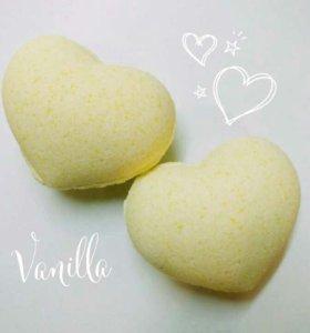 Бомбочки для ванн с ароматом ванили