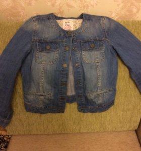 Джинсовая курточка для девочки 10 лет (140 см)