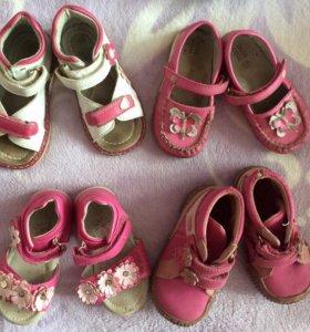 Обувь на девочку б/у