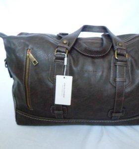Красивая коричн кож сумка бренд
