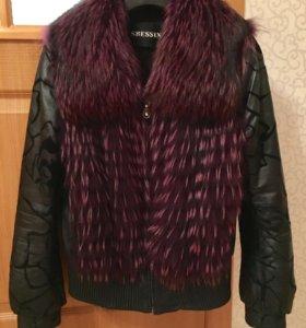 Куртка с меховыми вставками