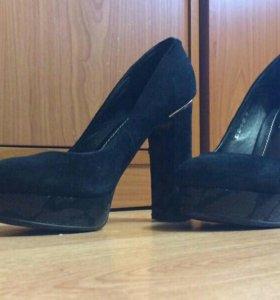 Туфли из натуральной замши р 37-38