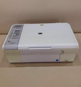 МФУ HP + СНПЧ( система непрерывной подачи чернил)4