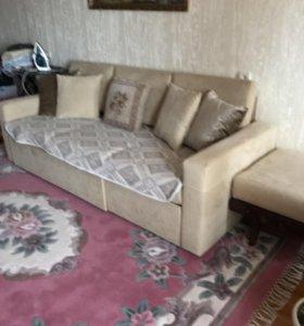 Чехослов диван с креслами раскладной