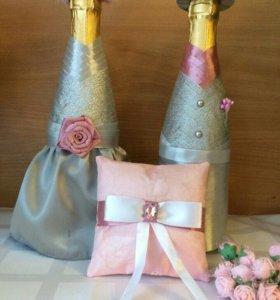 Свадебные украшения. Свадебное шампанское