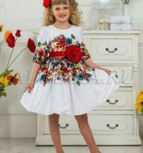 Нарядное платье на рост до 130 см