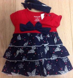 Платье/ боди 3-6 месяцев новое Тайланд хлопок