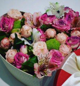 Цветы/ коробка с цветами