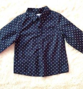 Рубашка нарядная новая на 86см