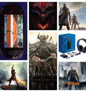 Игры PS4, наушники