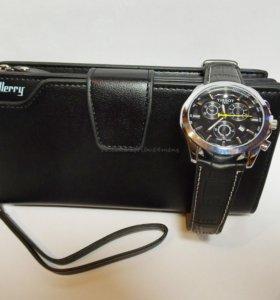 Клатч Байлери и часы Тиссот