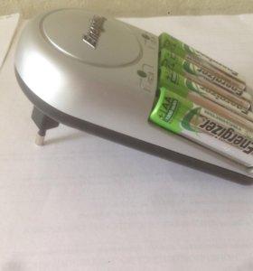 Зарядное устройство ENERGIZER батарейки AAA 4шт