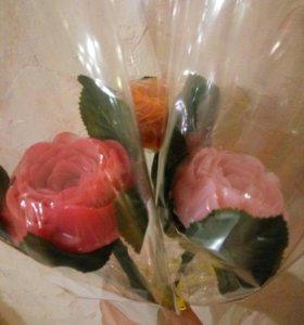 Мыло в упаковке Роза