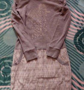 Теплое платьице. 200 р б/ у