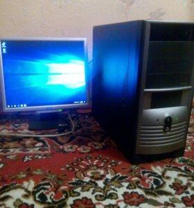 Intel+GT 710+озу(6гб DDR3)+МОНИТОР