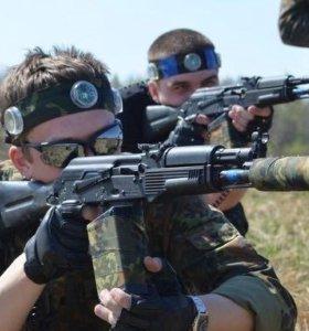 Командная игра лазерным оружием