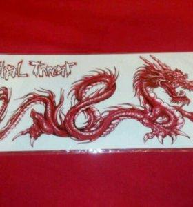 Наклейка на мото или скутер Красный дракон Lethal