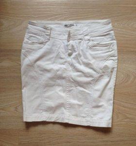 Юбка джинс белая