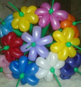 букетик из ромашек. оформление шарами.