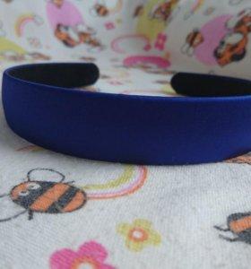 Шелковый Синий васильковый ободок для волос