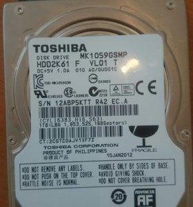 Жёсткий диск на ноутбук Toshiba 1000gb