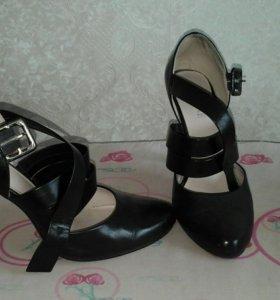 Туфли кожаные 37- 37.5